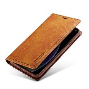 Image 2 - Magnético couro genuíno flip caso carteira para iphone xr 7 xs max casos titular do cartão capa para coque iphone x 8 plus 11 12 pro