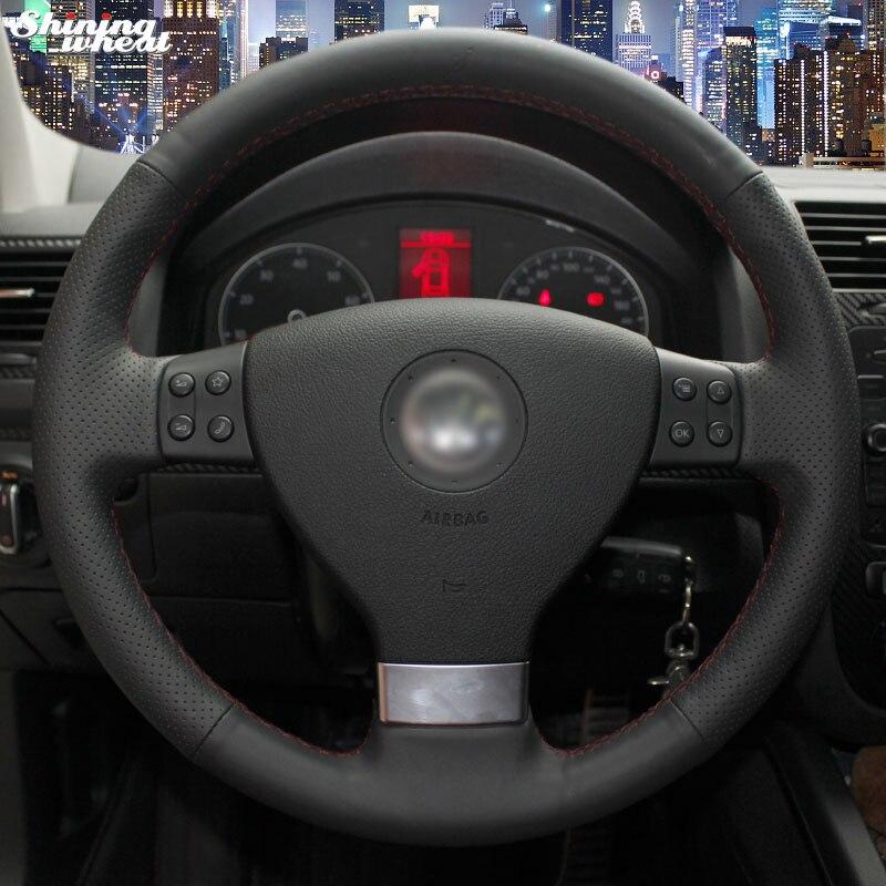 Shining Wheat Car Steering Wheel Cover For Volkswagen Golf 5 Mk5 Sagitar  Magotan VW Passat B6 Jetta 5 Mk5 Tiguan 2007 2011