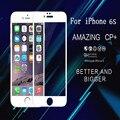 "3d borde curvo de vidrio templado protector de pantalla completa para iphone 6 s 6 splus 4.7 ""5.5"" protector de pantalla de cine"