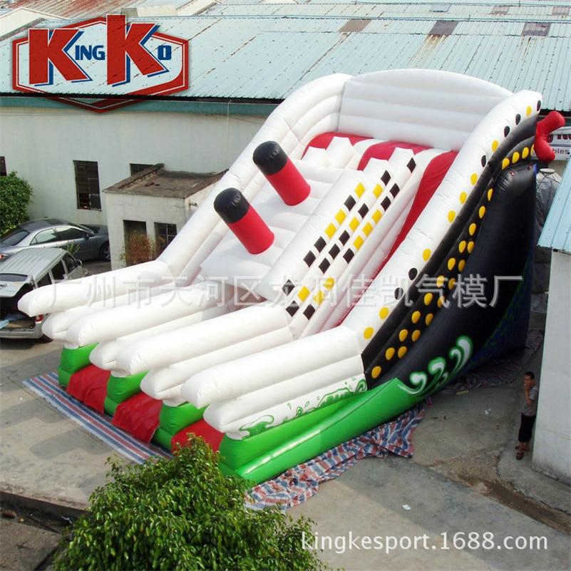 Combo gonflable de videur de bateau de Pirate et glissière pour l'amusement ou le Commercial utilisé