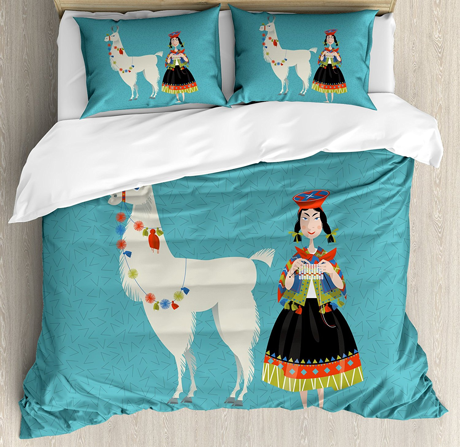 Llama Duvet Cover Set 4 Piece Bedding Set
