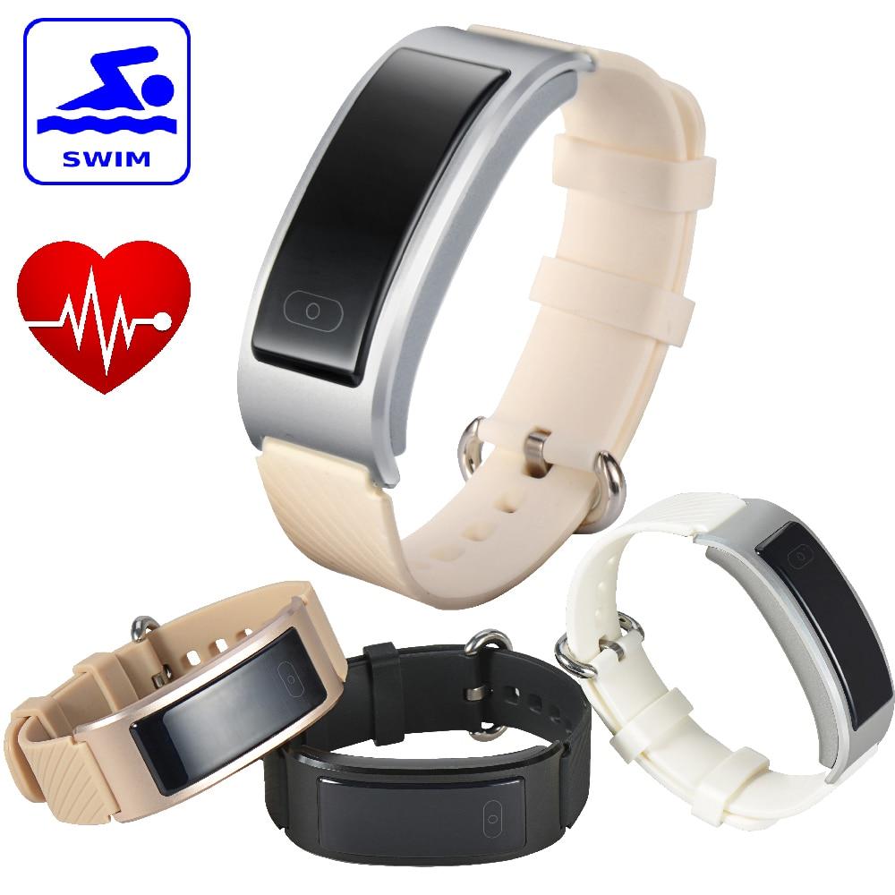 font b Smart b font Band Swimming Waterproof Bluetooth DF23 Sport Bracelet Heartrate Monitor Intelligent