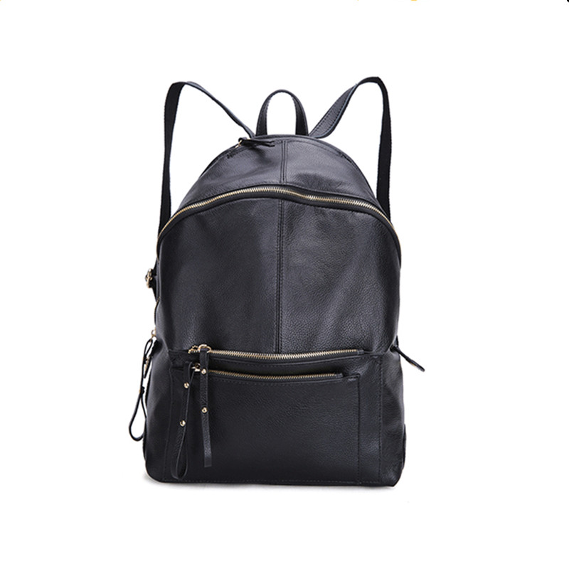 100% Genuine Leather Women Backpack Bag Large Capacity Designer Brand Fashion Casual Backpacks For Teenage Girls School Bags