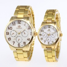 Dropship 1PC Brand Men Woman Quartz Lovers Watch Stainless S