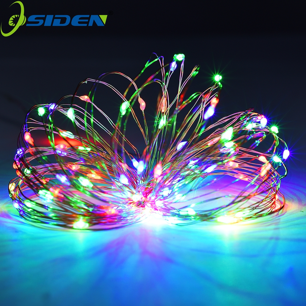 OSIDEN Strings Lys Led 5M 10M 33Ft Julelys Udendørs Vandtæt DC12V Jul Fairy Strip Lights Sliver Wire lampe