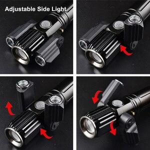 NEWBOLER настраиваемые Угловые велосипедные фары MTB велосипедный передний свет 3 светодиодный T6 фонарик USB зарядка велосипедная лампа с батареей 18650 фонарь