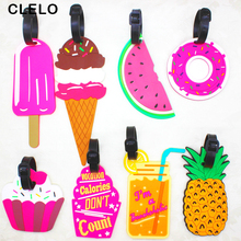 CLELO Travel Accessories Luggage tag Creative PVC Suitcase ID Address Holder Baggage Boarding Tags Portable Label