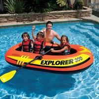 Inflatable Boat Kayak Drift boat Rubber boat thick wear resistant 2/3/4 person fishing boat thick hovercraft assault boat