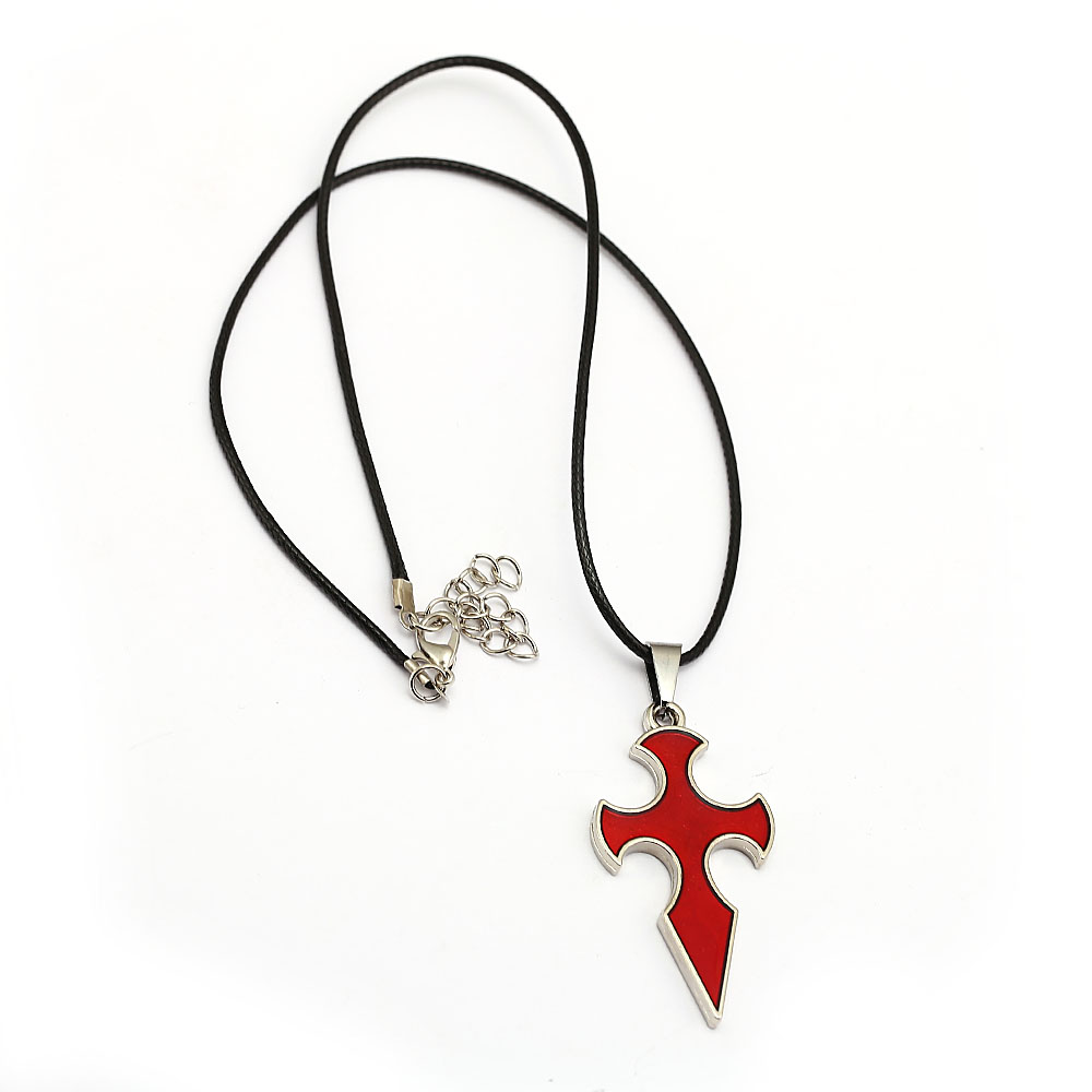 Anime Sword Art Online Necklace Knight of Blood Red Cross Alloy Pendant Cosplay Accessories Men Women Jewelry
