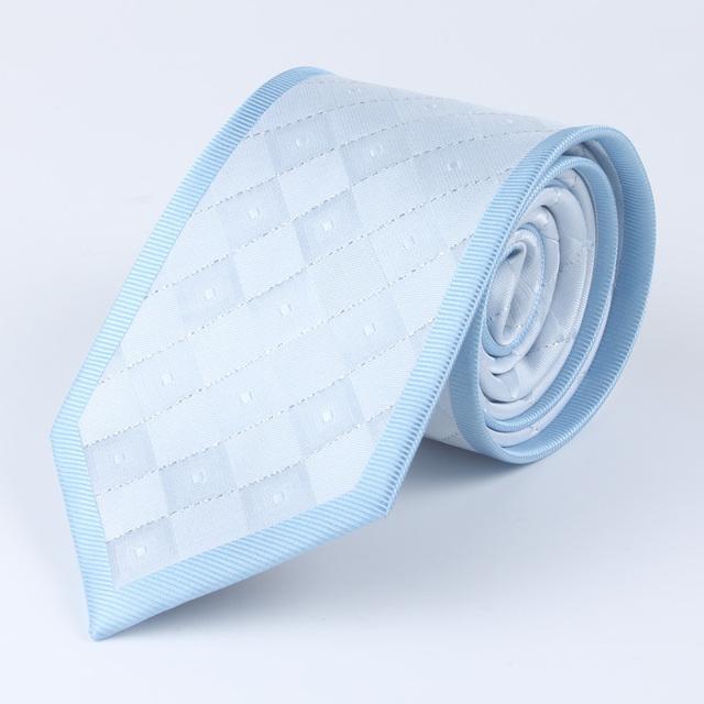 Moda 2015 Homens Xadrez Afiação 8 cm Corbatas Gravata De Seda tecido de Microfibra Jacquard Gravatas dos homens Único Terno Camisas Xadrez Homens empate