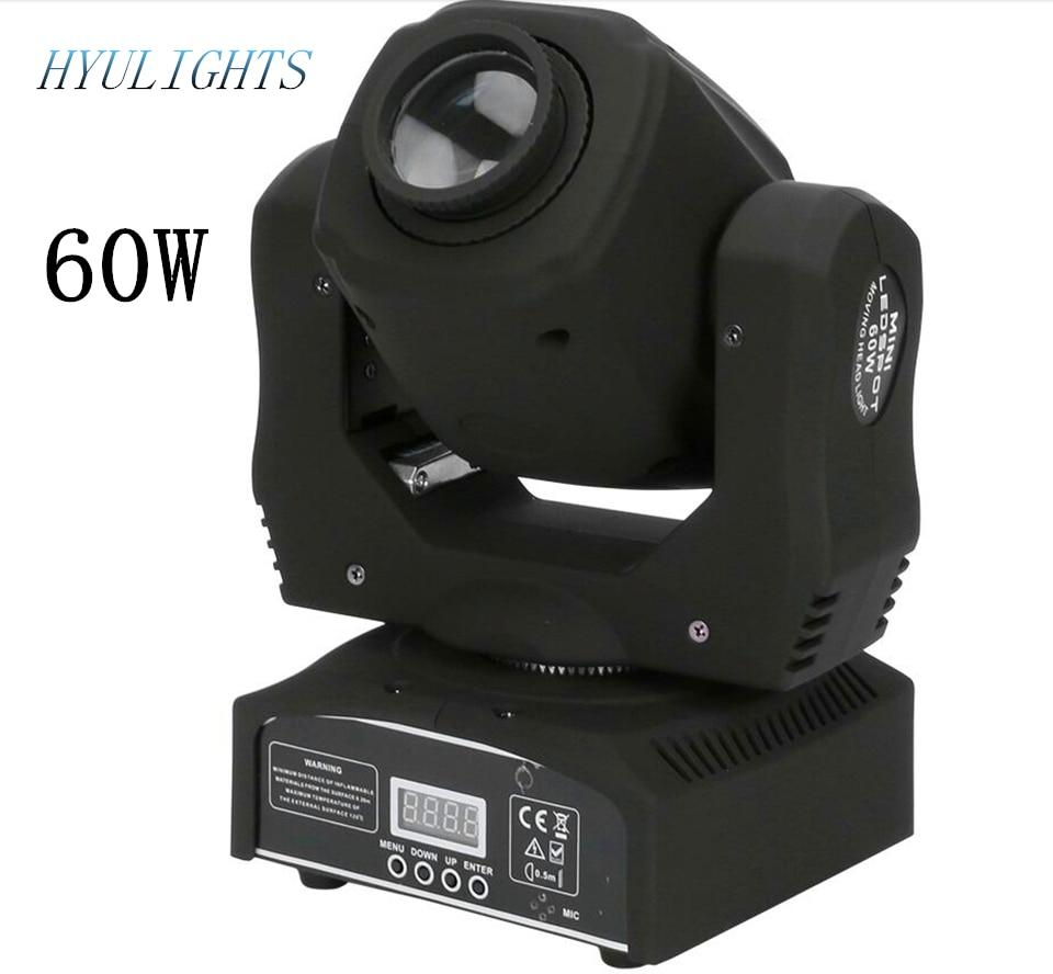 led 60 w moving head spot light dmx512 som ativa mestre escravo stand alon dmx luz