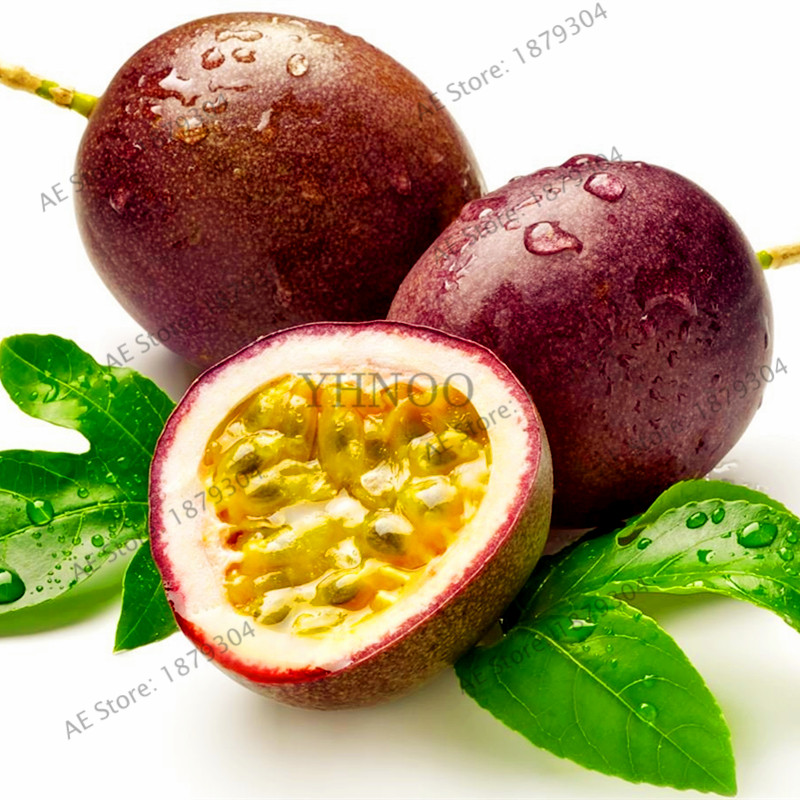 Bonsai,high Nutrition Tasty Fruit For Home And Garden,easy To Grow 20pcs/bag Passion Fruit passiflora Caerulea