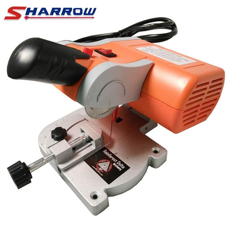 Sharrow 1 Set Electric Arrow Cutter Mini Cut off Saw DIY Cut Arrows Carbon Fiberglass Wood Bamboo Arrow Hunting Shooting(China)