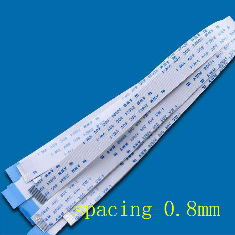 10Pcs FPC Flexible Flat Cable FFC 0.8MM 150MM A Type Interface 6P 8P 9P 10P 12P 14P 16P 18P 20P 22P 24P 26P 30P 36P 15cm Fpc 0.8