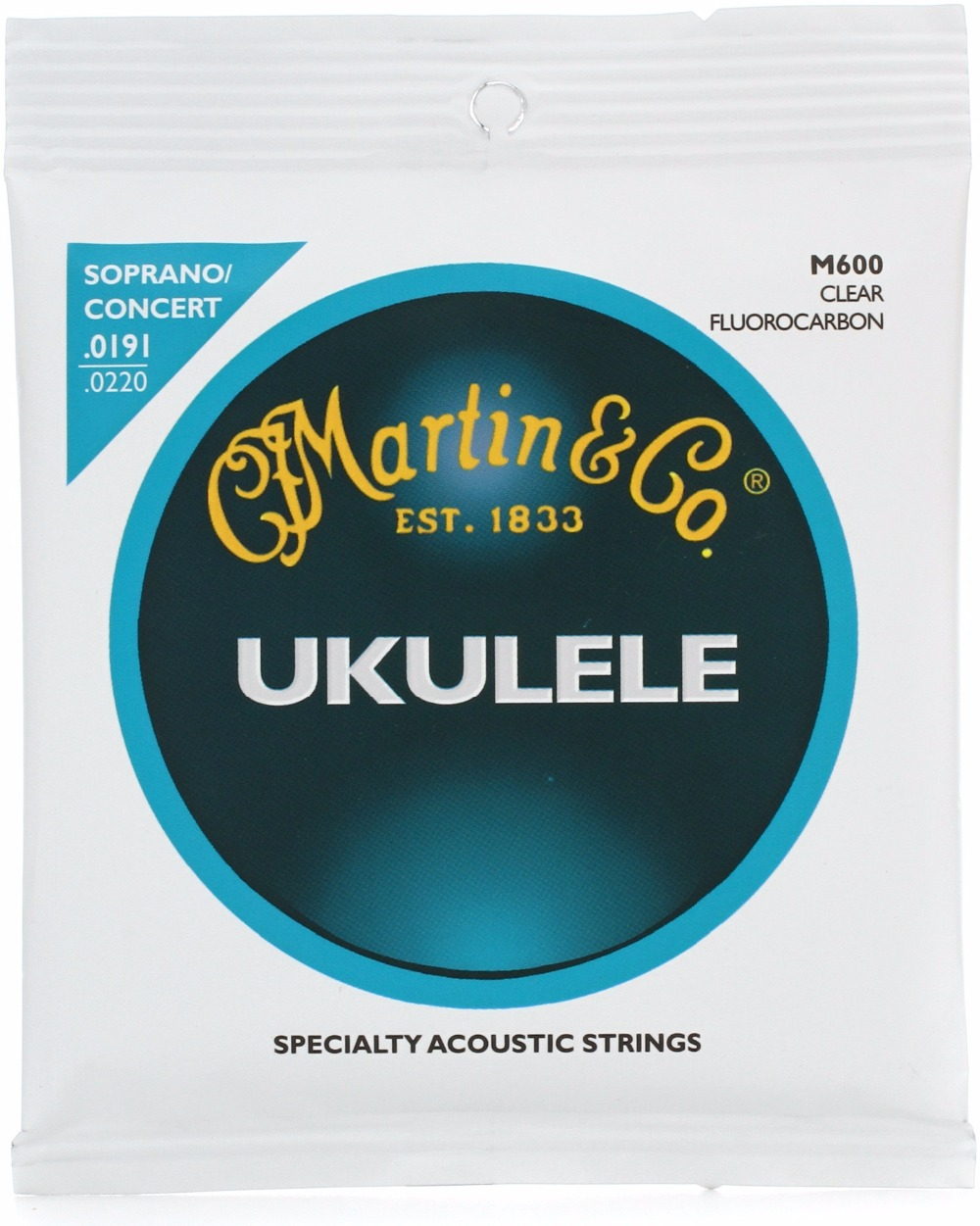 "MartinGuitar M600 Soprano/Concert Ukulele Fluorocarbon Strings for 21""/23"" Ukulele"