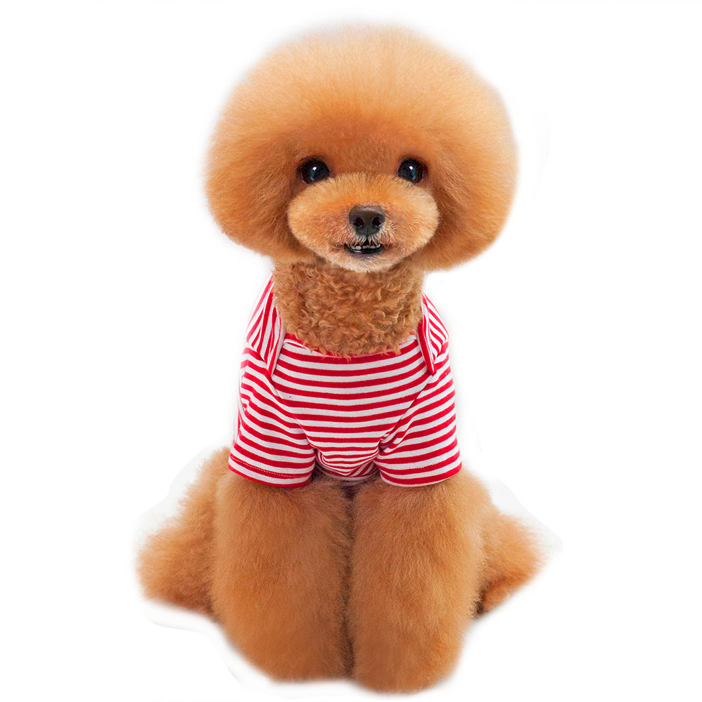 Small Dogs Costume Clothes For Little Dogs Fashion Style Pet Dogs Striped T-Shirt Small Puppy Dogs Clothes