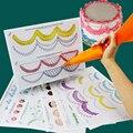 12 unids junta práctica estilo wilton fondant icing piping pasteles de la torta principiante papeles para decoración incluyendo 23 patrones populares