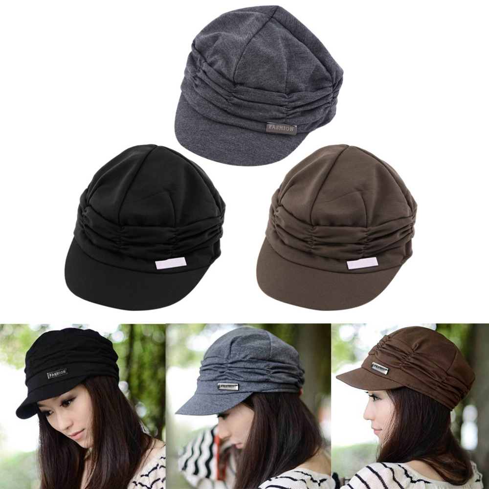 Classic Drape Knitted Peaked Design Cap Hat For Girls Ladies Women