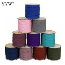 YYW 3mm Cotton Nylon Cord Thread Cord Chinese Knot Macrame Cord Braided String Diy Rope Bead Bracelet Jewelry Making 10m/Pc yyw 0 15mm 2 yarn jewelry diy making cord thread silk beading thread pearl string 900m spool nylon cord costume jewelry thread