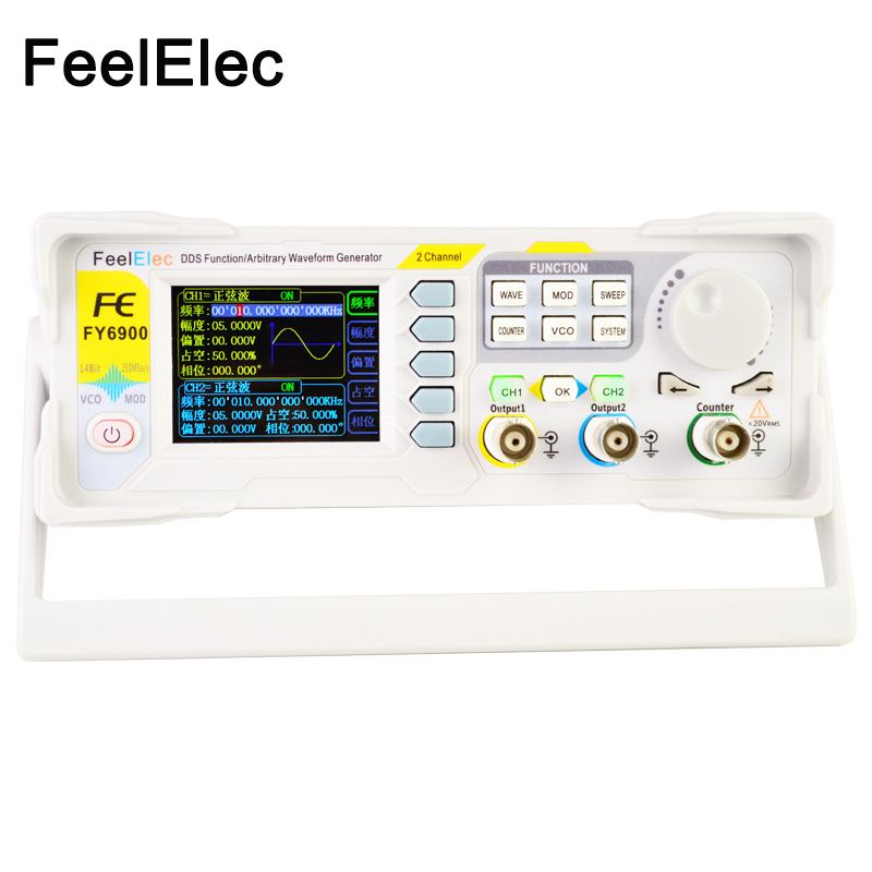 FeelTech FY6900 60M DDS Dual-Channel Arbitrary Waveform Pulse Function Signal Generator With High Quality