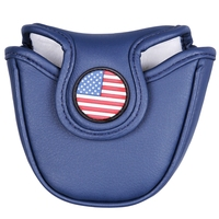 Magnetic Closure Velcro Closure Customized Golf Mallet Putter Covers Headcover Synthetic Leather Multi Style Color Free