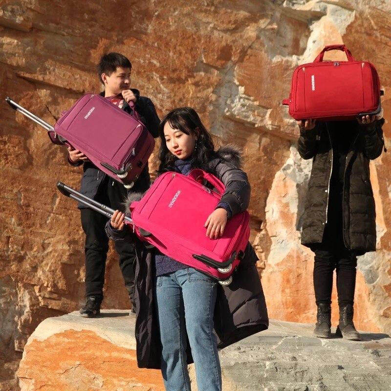 Avec red Pliage Chariot Nouveau purple Femmes Grande Black Capacité Sac Carry Lumière Voyage De brown green Red Portable Hommes Sur Bagages Valise Oxford rose Roues blue ZZqaRxwE