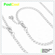 Chain Width 4MM NK1:1 Style Fashion Jewelry Sets 100% Stainless Steel Necklace40/50/60/70/80/90cm/Bracelet18/20/22cm gift 15 DIY(China)