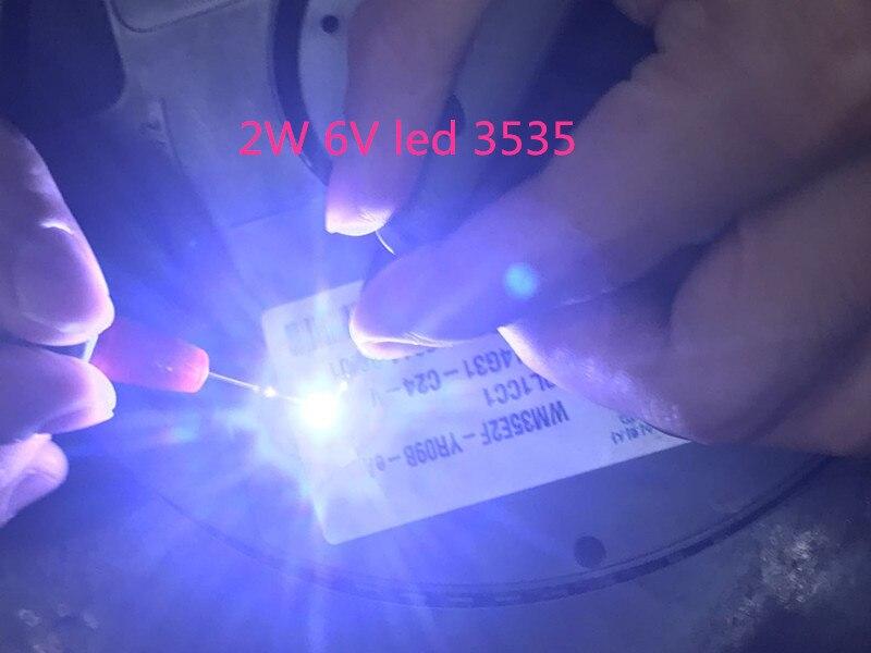 50PCS NEW AND ORIGIN FOR WOOREE <font><b>LED</b></font> Backlight <font><b>2W</b></font> <font><b>6V</b></font> <font><b>3535</b></font> 150LM Cool white WM35E2F-YR09B-eA LCD Backlight for TV