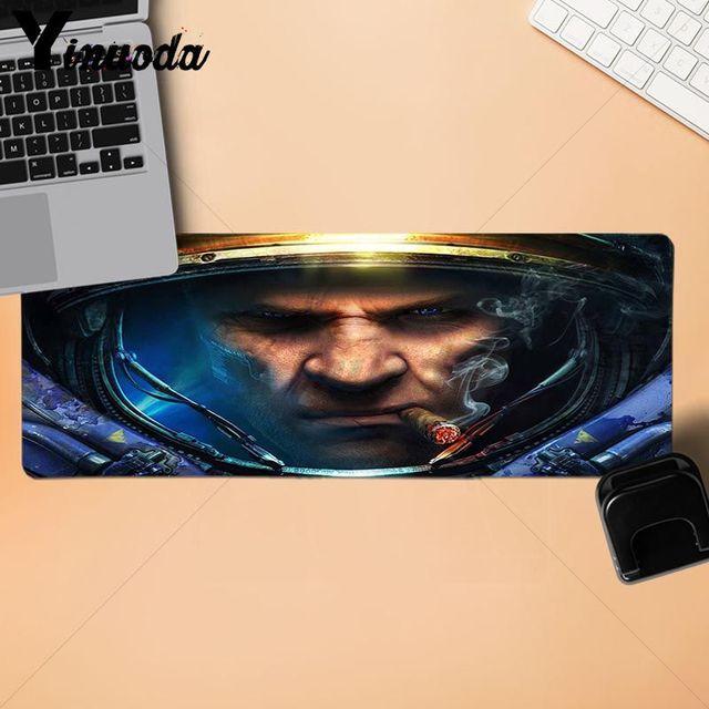 Yinuoda New Printed starcraft 2 cat Large Mouse pad PC Computer mat  Natural Rubber Gaming mousepad Desk Mat for dota 2 lol 2