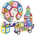 Большой размер Колеса Обозрения И Автомобильный Комплект Дети Магнитный Блок игрушки Для Детей Строительство Игрушка Установить Дети DIY Образования игрушка