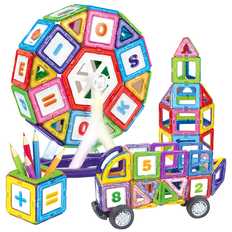 Big size Ferris Wheels And Car Set Kids Magnetic Block Toy For Children Construction Building Toy Set Kids DIY Educational Toy kids pedal go kart ride on rubber wheels sports racing toy trike car ricco