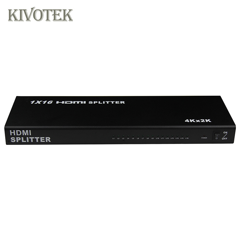 Image 2 - 1x16 4K HDMI Splitter Box 1 in 16 out,Hdmi1.4 1 to 16 ports splitter Supports DTS HD Dolby AC3/DSD For HDTV HD PlayerBest Price,-in Computer Cables & Connectors from Computer & Office