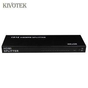 Image 2 - 1x16 4K HDMI Splitter Box 1 in 16 out, hdmi1.4 1 zu 16 ports splitter Unterstützt DTS HD Dolby AC3/DSD Für HDTV HD PlayerBest Preis,