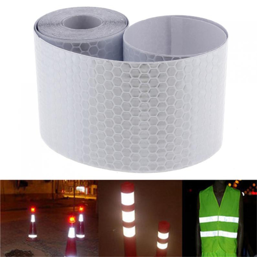 Hot Car Decoration Motorcycle Reflective Tape Stickers Styling for Automobiles Safe Material Safety Warning Tape 5x300cm