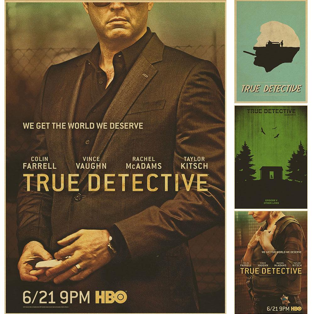 True Detective The Poster Mcconaughey Woody Harrison Matthew Cafe Ktv  Restaurant Hotel Bar Living Room Retro