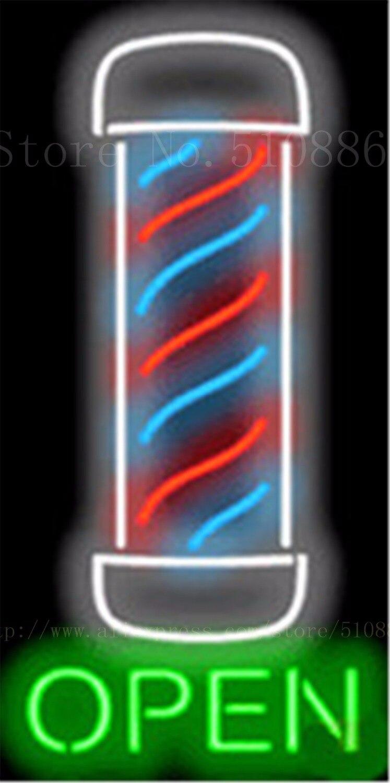 Barber Pole Open Vertical Businese Tube Neon Sign Beer