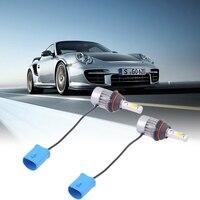 أدى 12 فولت 9004-H/l المصابيح عالية الطاقة سيارة أدى المصباح السيارات الأمامي مصباح الضباب ضوء اختبأ تحويل عدة c8 12-24 فولت dc العالمي