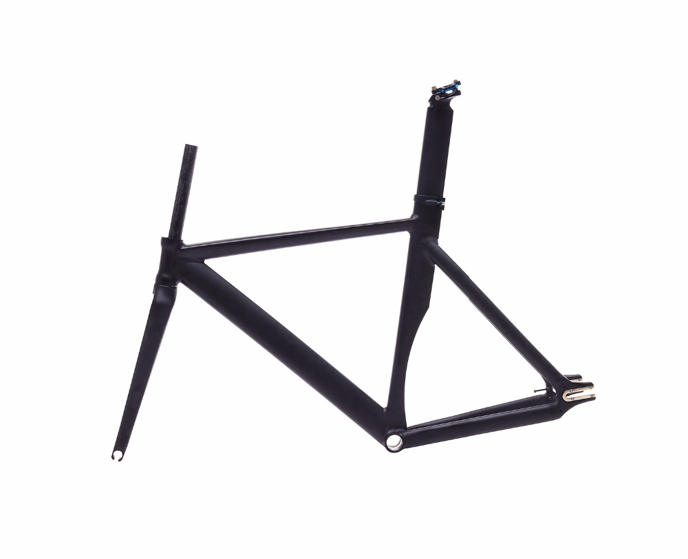 fixed gear bike frame 53cm 55cm 58cm matte black  Bike frame Fixie  Bicycle Frame Aluminum Alloy frame with carbon fork цена и фото
