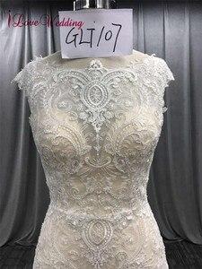 Image 4 - ILoveWedding/длинное кружевное платье в богемном стиле с вышивкой в виде Русалочки, свадебные платья, boho Vestidos De Noiva De Luxo 2018
