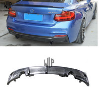 2 series Carbon fiber Rear Bumper Diffuser Lip Spoiler Protector Guard car body kit for BMW F22 M Sport 235i 2004 UP