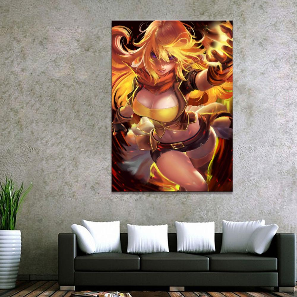 Home Decor RWBY Yang Xiao Long Classic Animation 1 Piece Girl Art Poster Prints Picture Wall Decoration Painting Wholesale