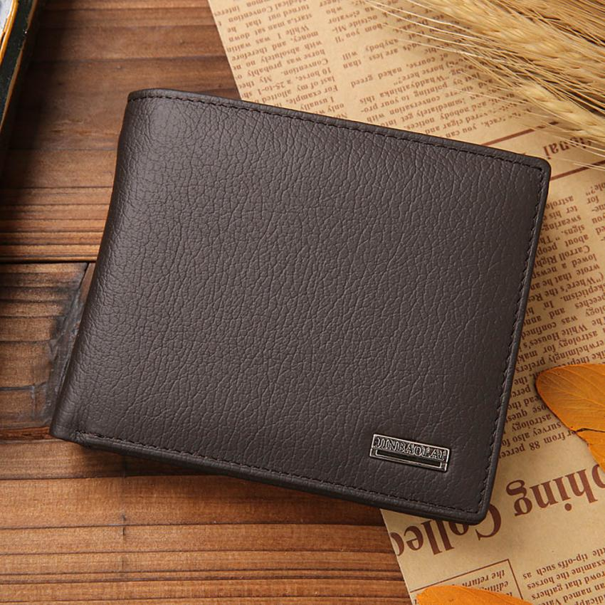 Hot Sale JINBAOLAI Bifold Wallet Men Leather Credit/ID Card Holder Purse Mini Wallet fashion brand quality purse wallet for men zelda wallet bifold link faux leather dft 1857