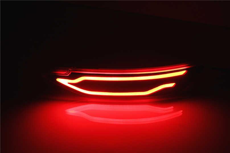 2 шт. Автомобильный светодиодный задний бампер противотуманная фара тормозной светильник дневной ходовой задний светильник отражатель лампа для hyundai Tucson 2015 2016 2017 2018