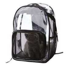Hot Sales Fashion Pet Carrier Transparent Breathable Backpack for Cats and Dogs Travel Walking Outdoor Use 2019 New Arrival
