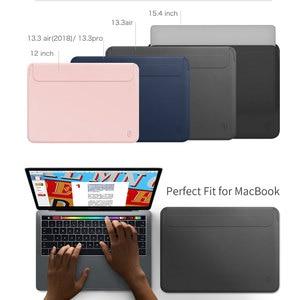 Image 5 - WIWU funda para portátil para MacBook Air 13, bolsa impermeable para portátil, para MacBook Pro 13 15, Funda de cuero PU para Notebook