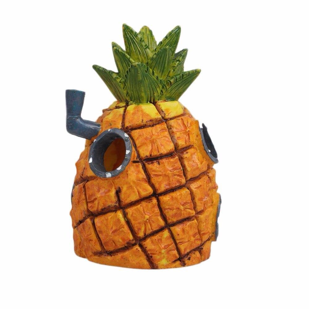 Ananas Rysunek us $6.7 20% off|cartoon rysunek gąbka ananas maska akwarium fishbowl  ornament akwarium dekoracje akcesoria akvaryum aquario drop shipping w  dekoracje
