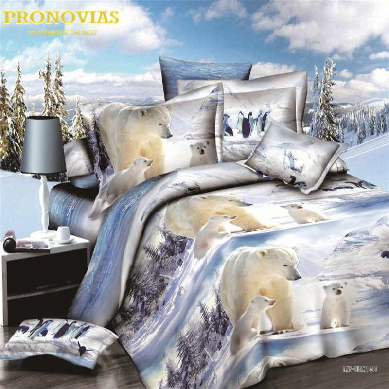 verbazingwekkende 3d boutique ijsbeer beddengoed set dekbedovertrek - Thuis textiel