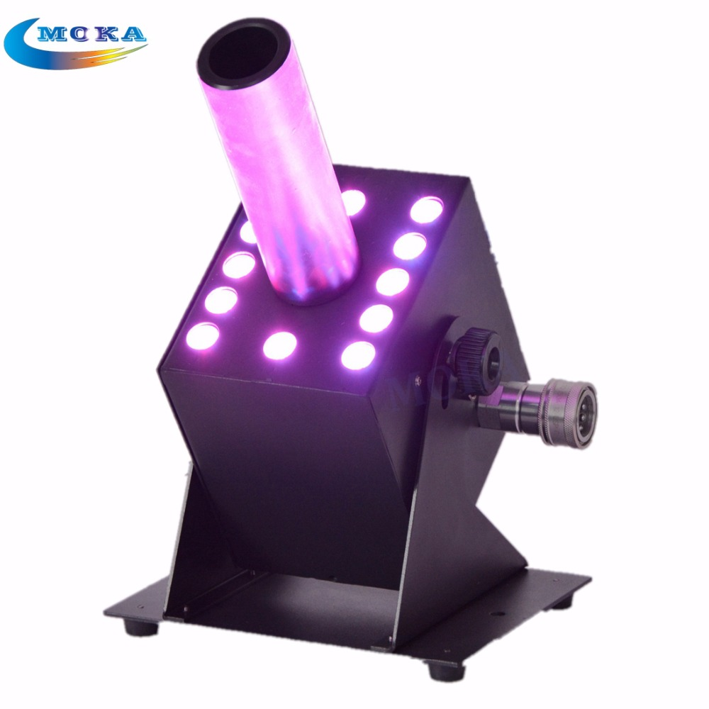 10PCS/LOT Disco Dj Equipment CO2 Jet Machine Stage Effect CO2 Jets With  RGB LED Lighting For Club Parties Stages mini rgb led party disco club dj light crystal magic ball effect stage lighting