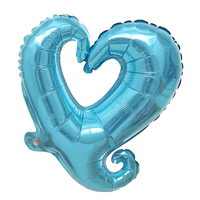FBIL Heart Shape 18 Inch Foil Birthday Party Supplies Wedding Decor Balloons Lot Blue 50pcs