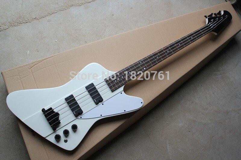 Nouveau + guitare usine + GB Thunderbird 4 cordes basse électrique en blanc couleur basse électrique avec EMG pick-up 14930